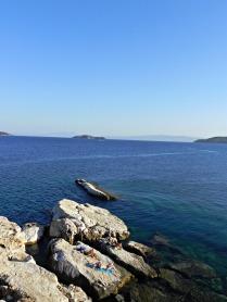 sunbathing everywhere, Skiathos town