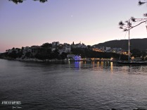 Skiathos town after sunset