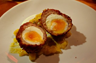 scotch egg and piccalilli
