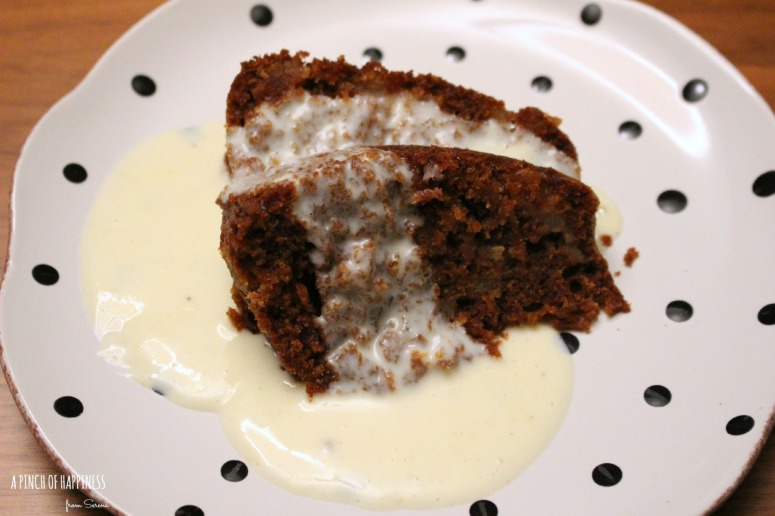 Gingerbread pudding and custard